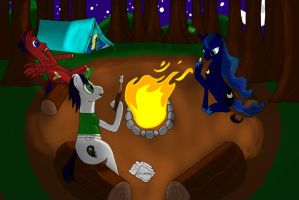 Around the Campfire by Fanglore-and-Kain