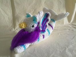 White, Purple and Turquoise Seagryphon by hollyann