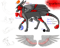 Sparten -- Ref Sheet by Kitfox247