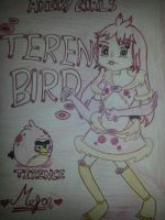 Angry Girls/Angry Birds: Terence Bird Girl by MeganLovesAngryBirds