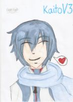 Kaito Smiling ! ~ by ECookie