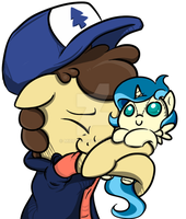 Dipper Pines - hug the Tina plushie by mirry92