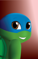 Turtle Tots Series: Leonardo (color version) by Dragon-Artist92