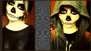 Skull makeup by gilly15