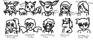 64 watchers pictures batch 1 by Dustyfootwarrior