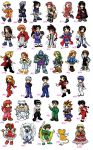 117 chibies...many animes by belafantasy