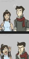 Makorra In A Photo Booth by LittleMsArtsy