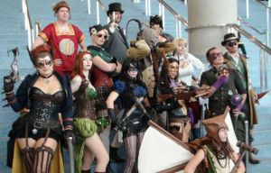 Best Cosplay Team of Steampunk DC Characters by trivto