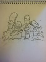 The simpsons by Bertramskotte