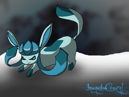 .:Kiriban:. Glaceon by inuyashacrazy1