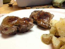 HoneyMustard Rosemary Lambchops by dragoon811