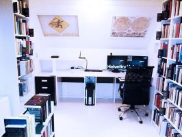 My Desk in my Home Office by hplhu