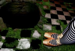 Alice And A Big Hole by tinynarna