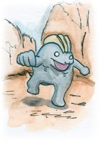 Machop Sketch Card by melllic