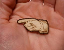 tiny wood pin by matt136