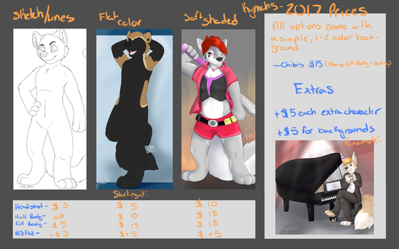 2017 Price Sheet by Kymahwolf