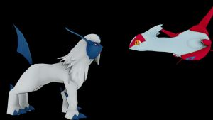 Latias And Absol - Friend? by TheModerator