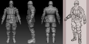 Soldier WIP by eboyer