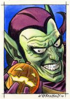 Green Goblin Card by BillReinhold