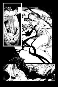 Dracula page 01 Pencils by mrrogers4566