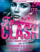 Fashion Clash Poster Template by renderyourmind