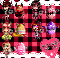 [AUCTION-CLOSED]: adoptables dark chibi eggs by Kawaii-seller