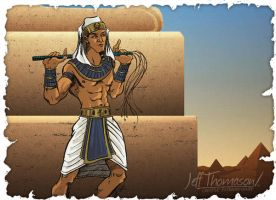 Character Sketch - Egyptian Prince by SkyFitsJeff