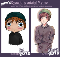 Draw This Again: May 2012 vs. Feb. 2014 by Chewsome
