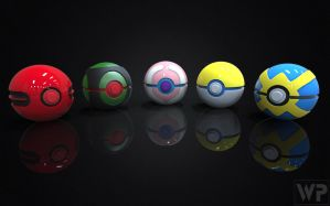 Pokedex Project Generation 4 Pokeballs by WilbertPierce