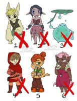 Adoptables (OPEN) by 10yrsy