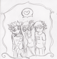 Eridan Feferi and Sollux Chibiness by RayneHime