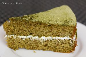 Green tea sponge cake 2 by patchow