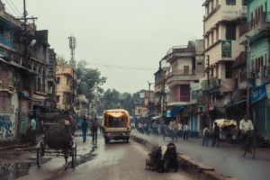 Varanasi Street by Bestarns