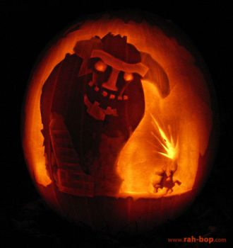 Shadow of the Colossus pumpkin by rah-bop