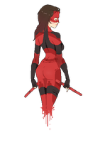 Female Pixel Daredevil by mcrmorbid
