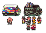 Greg's Van Fanmade Earthbound Sprite by AceNos