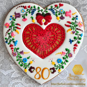 Gingerbread Cookie for 80th Birthday by AngelDarky