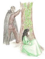 Liadan and Bran by Jen7waters