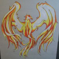 The Mystical Fire Bird by scar12166