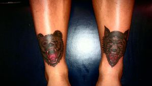 bear and wolf by swetattoo
