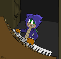 Ludwig Von Koopa At Piano By Reyelene On Deviantart