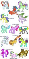 Mass pony adoptables by Fortitudine-Shelter