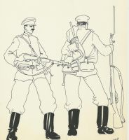 Russo-japanese War 1904 russian infantry by Stcyr74