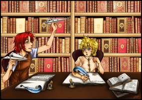 ASFAS - Studying by x-Lilou-chan-x