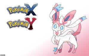 Sylveon - Pokemon Y and Y Wallpaper by UxianXIII