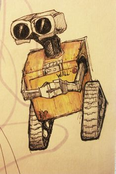 Wall-e Sketch by solarpowersoul
