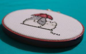 Totoro Cross Stitch View 2 by MissTopaz