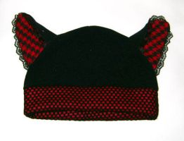 Punk kitty hat by funkyfunnybone