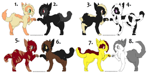 Warrior Cat Adoptables - 5 Points by iPandacakes