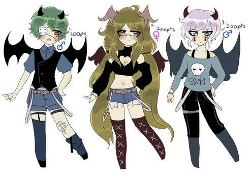 Adoptables #2 (OPEN) by yui-churro